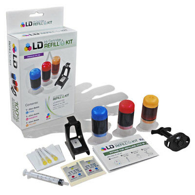 LD 61 and 61XL Tri-Color Refill Kit for HP Printer