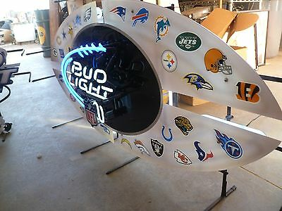 Bud Light Nfl Logo Football Large Acrylic Beer Neon Sign