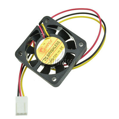 12V 3Pin 40mm Mini 4cm DC Brushless Computer Cooler Cooling Fan PC 40X40X10MM