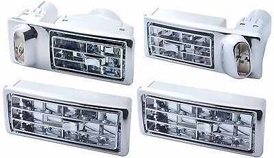 Kenworth Chrome AC Air Vents, 2002 and Newer - Complete Dashboard Set of 4