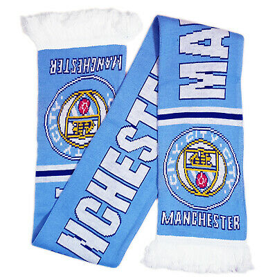 Manchester City Scarf NEW Crest Christmas Fathers Day Birthday Gift Jacquard