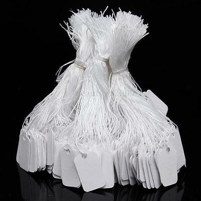 500 White Strung String Tags Swing Price Tickets Jewelry Retail Tie On Label