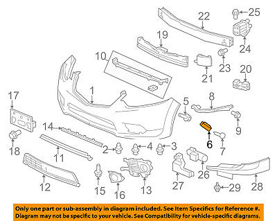 Acura HONDA OEM 09-14 TSX Front Bumper-Spacer Support Bracket Right 71193TL0G00