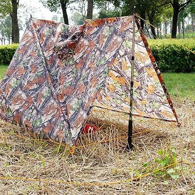 3 in 1 Outdoor Poncho Backpack Rain Cover Waterproof Tent Mat Awning AU L7W8