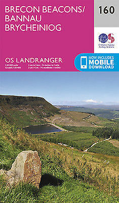 Brecon Beacons Landranger Map 160 Odnance Survey 2016