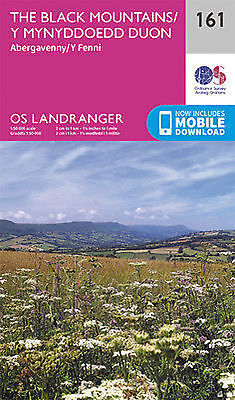 The Black Mountains Landranger Map 161 Odnance Survey 2016