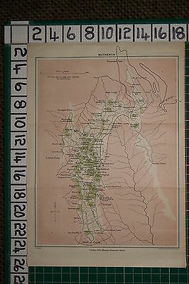 Antique India Map ~ Matheran Hope Hall Hotel Post Office Church Telegraph