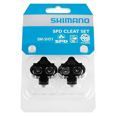 Shimano SM-SH51 MTB Bike Single Release Cleats for SPD Clipless Pedals Black