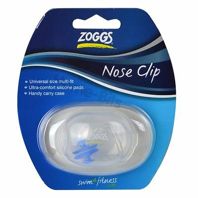 New Zoggs Swimming Nose Clip & Case Transparent