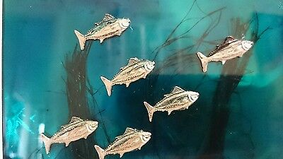 Deep sea pewter fish beautiful Contemporary Mixed Media Resin Art - Abstract 02