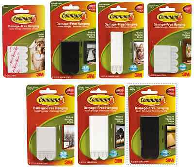 3M Damage Free Removable Picture Frame Poster Adhesive Stick on Hanging Strips