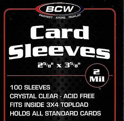 3000 New Soft Poly Card Sleeves Sport Trading Penny BCW Storage Supplies