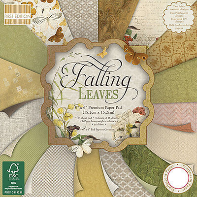 First Edition Falling Leaves 6x6 FSC Sample Pad