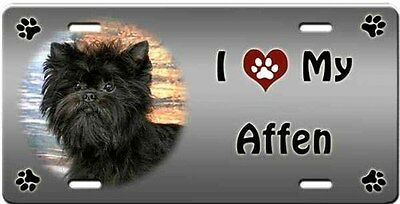 Affenpinscher License Plate - Love