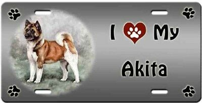 Akita License Plate - Love