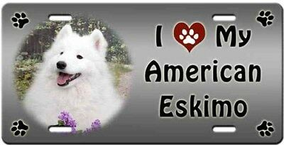 American Eskimo License Plate - Love