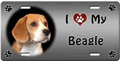 Beagle License Plate - Love