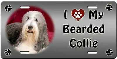 Bearded Collie License Plate - Love