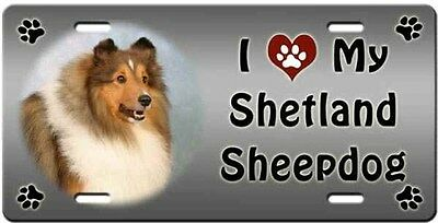 Shetland Sheepdog License Plate - Love