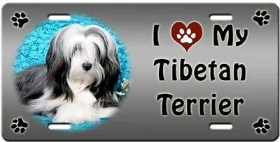 Tibetan Terrier License Plate - Love