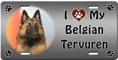 Belgian Tervuren License Plate - Love