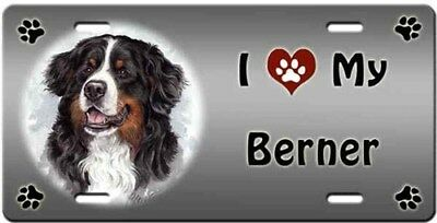 Bernese Mountain Dog License Plate - Love