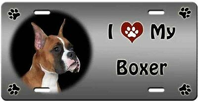 Boxer License Plate - Love