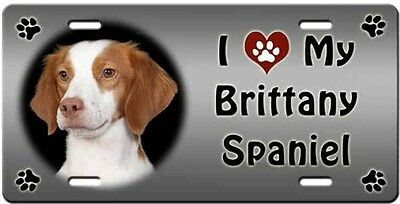 Brittany Spaniel License Plate - Love