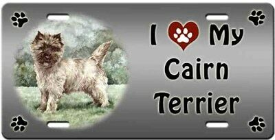 Cairn Terrier License Plate - Love