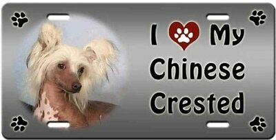 Chinese Crested - Hairless License Plate - Love