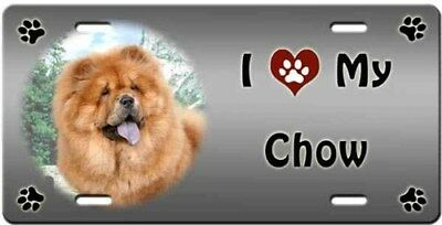 Chow Chow License Plate - Love