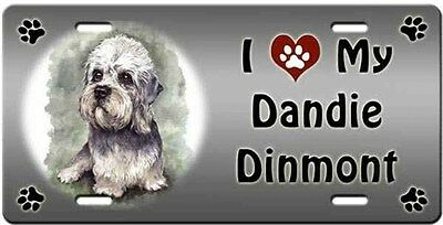 Dandie Dinmont License Plate - Love