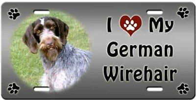 German Wirehaired Pointer License Plate - Love