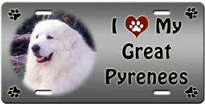 Great Pyrenees License Plate - Love