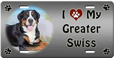 Greater Swiss Mountain Dog License Plate - Love