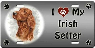 Irish Setter License Plate - Love