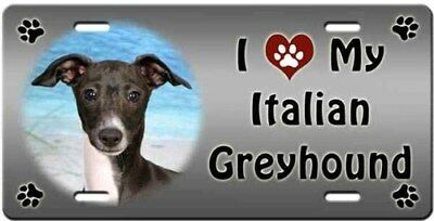 Italian Greyhound License Plate - Love