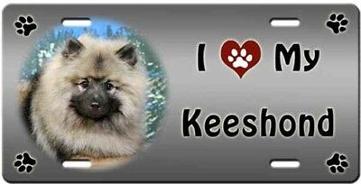 Keeshond License Plate - Love