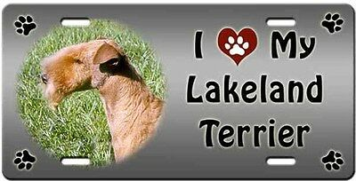 Lakeland Terrier License Plate - Love