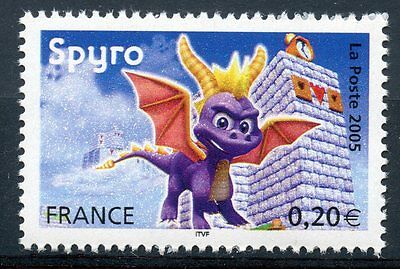 Stamp / Timbre France Neuf N° 3845 ** Heros Des Jeux Video / Spyro Petit Dragon