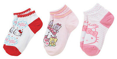 Sanrio Hello Kitty Pink and Red Set of 3 Socks