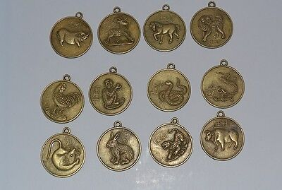 Chinese 12 Zodiac Horoscope CollectAble Feng-Shui Lucky Coin WITH HOOK SEE PHOTO