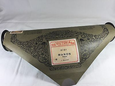 ROLLO MUSICAL PIANOLA VICTORIA 2191 Manon Potpourri J. Massonet