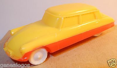 a FALK 1960 MOULE NOREV MADE IN FRANCE CITROEN DS 19 JAUNE ROUGE 1/43 REF 2B