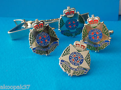 Victoria Police Set Enamel & Nickel Plated Badge 25Mm High Social Items