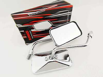 Yamaha Xvs650 Dragstar 97-15 Chrome Rectangular Soko Rear View Mirrors