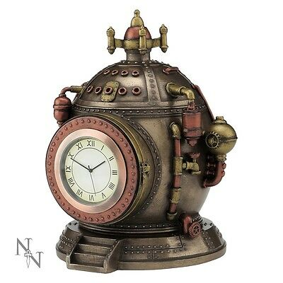 Nemesis Now/veronese Design Mechanism Of Time Orologio Steampunk In Bronzo
