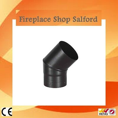 "45 & 90 degree elbow - Tee piece with cap for multifuel stove flue pipe 4"" 5"" 6"""