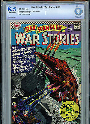 Star Spangled War Stories  #127 CBCS Graded 8.5 DC Comics Silver Age 1966