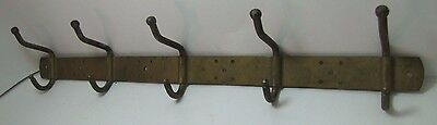 Vintage Double Hook Five Rack Wall Mount Hanger Bracket architectural hardware